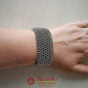 Ръчно изработена гривна от стомана Душа на русалка - Teoniko