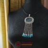 Ръчно изработена висулка Земела със син ахат