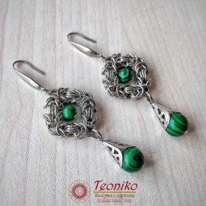 Ръчно изработени обеци Вдъхновение - Teoniko